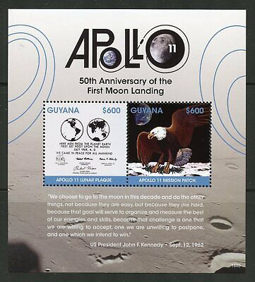GUYANA  2019 50th ANNIVERSARY  OF APOLLO 11 SOUVENIR SHEET MINT NEVER HINGED