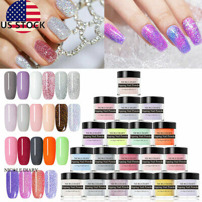10ml Glitter Nail Art Dipping Powder Natural Dry Tips Starter Kit NICOLE DIARY