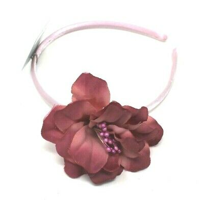 Dusky Pink Head Alice Band On A Satin Band For Festival Wedding Races Prom
