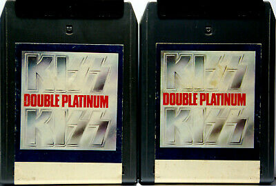 KISS Double Platinum    Volume  1 & 2   8 TRACK CARTRIDGE TAPE