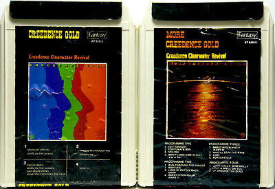 CREEDENCE CLEARWATER REVIVAL Gold and More Gold  8 TRACK CARTRIDGE TAPES 2 TAPES