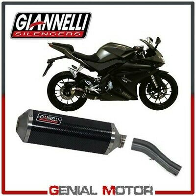 Echappement Complete Giannelli Carbone + Raccord Kat YAMAHA YZFR 125 2014 14