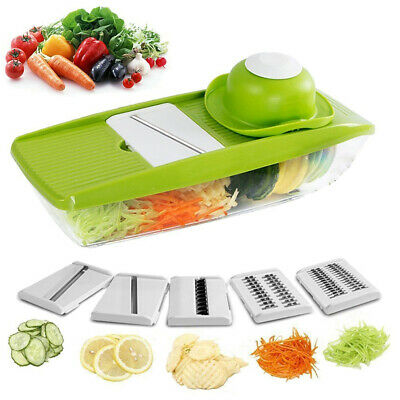 9 in 1 Mandolin Vegetable Food Slicer Julienne and Container - Peel Cut Slice
