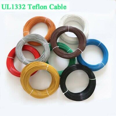 22 AWG UL1332 FEP Stranded Cable Electrical Wire Cord Hook-up 200°C 300V 9-Color