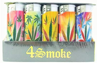 4 Smoke Electronic Lighters - Child Resistant - Cigarette Lighters Display Boxed