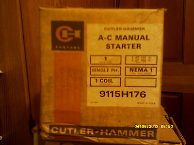 Cutler Hammer Size 1 A C Manual Starter Single Phase Nema 1 Enclosure - New