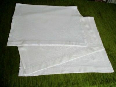 ANTIQUE HUCKABACK HAND TOWELS-COL.x 3 - IRISH LINEN
