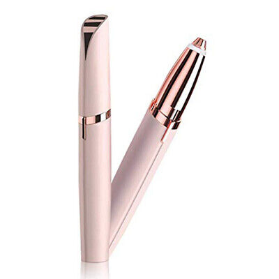Painless Hair Remover Mini Electric Eye Brow Pen With Razor Epilator LED Light
