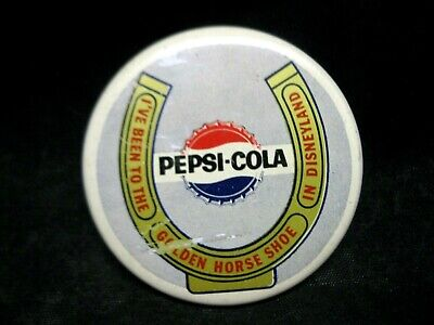 """Pepsi-Cola I've Been To The Golden Horse Shoe In  Disneyland 2"""" Collectible Pin"""