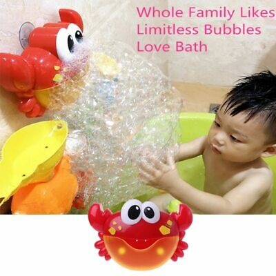New Crab Bubble Machine Bathroom Bubble Maker Bath Toy Kid Baby Toy water toys