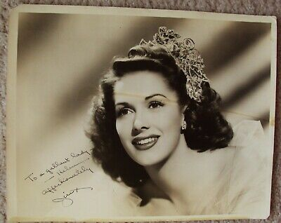 JINX FALKENBERG Original SIGNED in Person AUTOGRAPH Photo SUPER MODEL Glamour
