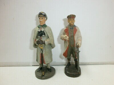 2 Old Hausser Elastolin Ground Soldiers General Hindenburg and Blomberg to 7.5cm
