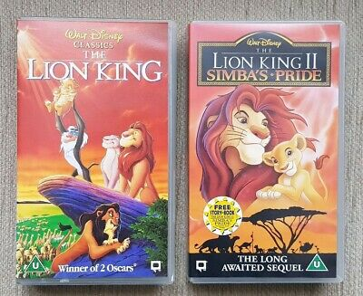 The Lion King & The Lion King II Simba's Pride VHS Tapes - Walt Disney