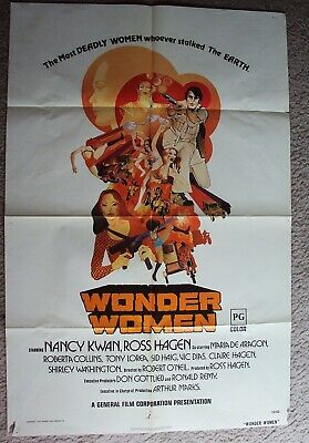 WONDER WOMEN Original NANCY KWAN Martial Arts 1-SHEET Movie POSTER Ross Hagen 73