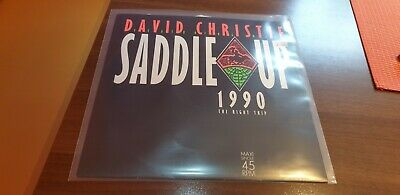 "David Christie - Saddle Up 1990 (The Right Trip) 12"" Vinyl Schallplatte - German"