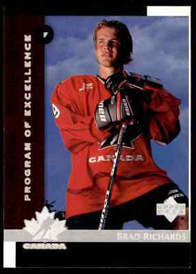 1997-98 Upper Deck Program Of Excellence Brad Richards Rookie !! #418