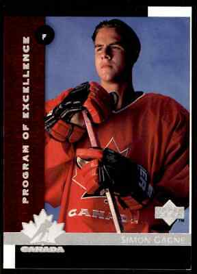 1997-98 Upper Deck Program Of Excellence Simon Gagne Rookie !! #411