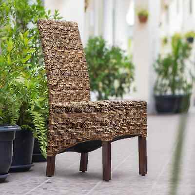 International Caravan Manila Abaca Mahogany Dining Chair (Set of 2)