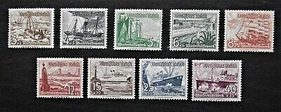 GERMANY- THIRD REICH 1937 WINTER RELIEF - Full set of 9 - MNH & MH