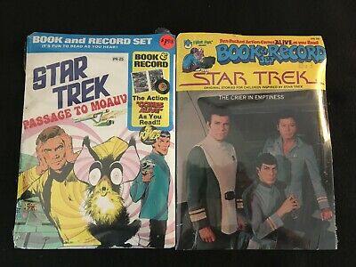 STAR TREK: PASSAGE TO MOAUV and THE CRIER IN EMPTINESS Book & Record Set