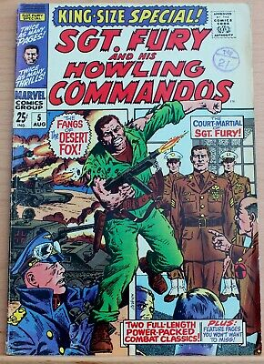 Sgt Fury & His Howling Commandos King Size Special 5 a fn 1969 silver age Marvel