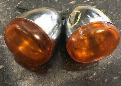 Harley Davidson  Pair Of Chrome Front Signal Lights  (Ops7615)