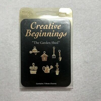 New old stock Garden Theme lot 7 Solid cast antique brass charms pendant