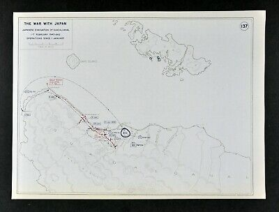 West Point WWII Map War Japan Battle of Guadalcanal Japanese Evaculation WW2