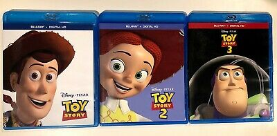 Toy Story 1, 2, and 3, Trilogy, Disney Blu-Ray Lot
