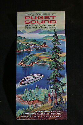 1962 Ferry Cruises on Puget Sound & Adjacent Inland Waters Brochure