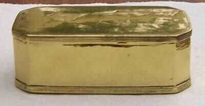 Antique Hand Made Brass Box Dovetail Construction Metal Smith Spice Tea Caddy