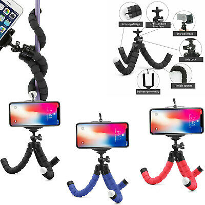 Tripod Stand Mount Flexible Mini Adjustable Octopus Holder GoPro Camera iPhone