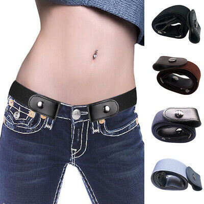 Buckle-free Elastic Womens Mens Invisible Waist Belt for Jeans No Bulge Hassle