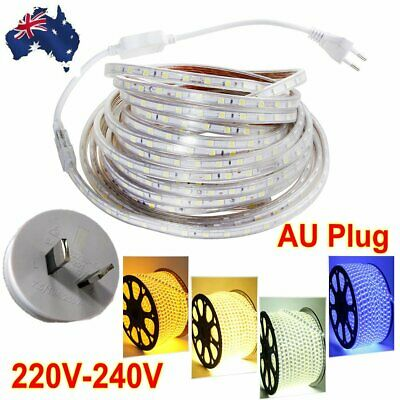 220V-240V SMD 5050 LED Strip Lights RGB Flexible tape Light IP 67 Waterproof AU