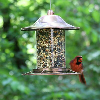 Perky-Pet Copper Panorama Bird Feeder 312C Holds up to 2 lbs of seed