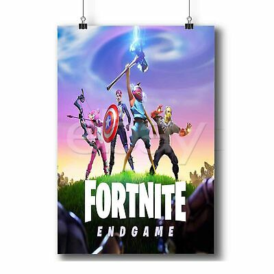 """Fortnite Poster Battle Royale Blue Game Wall Poster 24x36/"""" or  27/""""x 40/"""""""