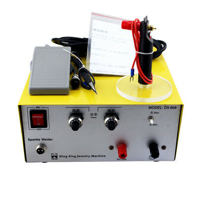 80A Pulse Sparkle Spot Welder Platinum Gold Silver Jewelry Welding Machine