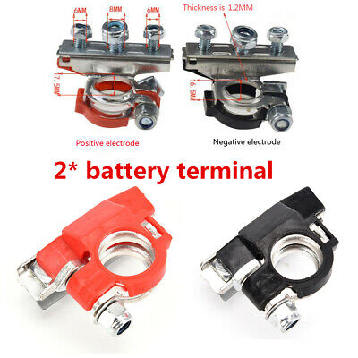 2x Pure Copper Battery Terminal Heavy Duty Car Quick Connector Cable Clamp Clip