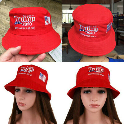 Donald Trump 2020 Keep America Great Cap Embroidered Bucket Hat Women Outdoor