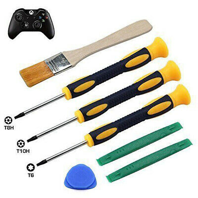 7x Screwdriver T6 Set Fits & One Controller 360 Brush For Xbox Ps4 7pcs Tool