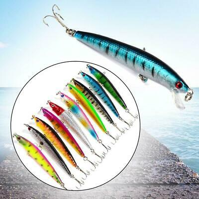 1x Fishing Lures Crankbaits Hooks Minnow Bass Baits Tackle Multi colored_10cm 20