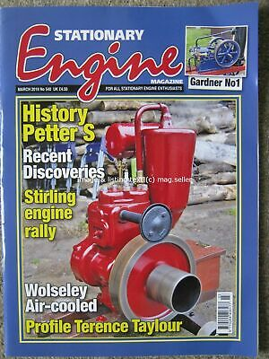 Stationary Engine March 2019 Petter S Wolseley air cooled Gardner No1 IHC Mogul