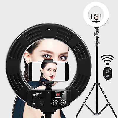 GVM LED Ring Light with Light Stand Kit 18-inch 3200-5600K CRI 97+ Dimmable SMD