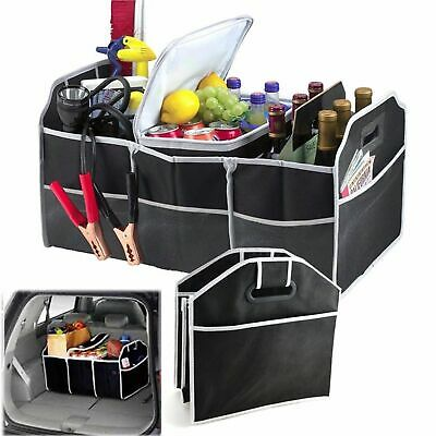 2-in-1 Car Boot Organiser Shopping Tidy Heavy Duty Collapsible Fold able Storage