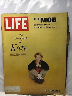 Life - January 5, 1968 The Comeback Of Kate Hepburn, The Mob In New York