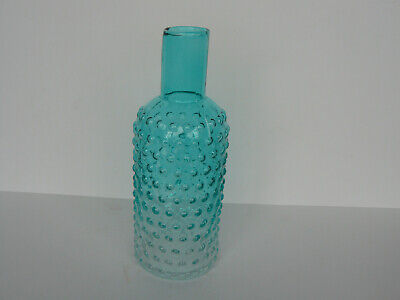 A really unusual vintage hobnail bottle two tone home decor