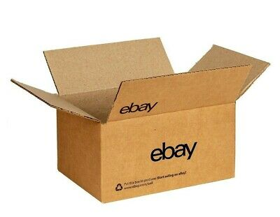 """Official Ebay Branded Boxes With Black Color Logo 6"""" x 4"""" x 4"""" 25/50 bundles"""