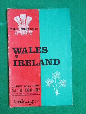 Wales V Ireland - 11 March 1967 - Rugby Union Programme