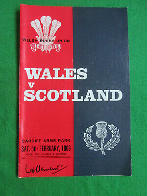 Wales V Scotland - 5 February 1966 - Rugby Union Programme