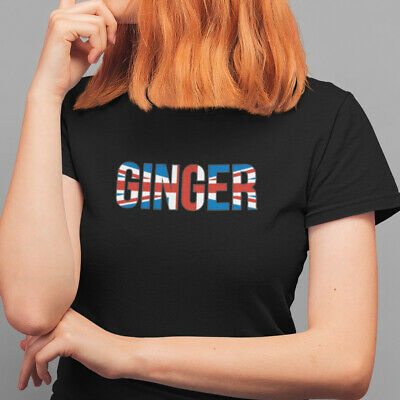 Ginger Spice T Shirt - Spice Girls Inspired Tee Black or White 100% Cotton